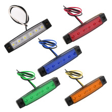 1PC 12V 6 LED Trailer Truck Clearance Side Marker Submersible Light Width Lamp Hot Selling(China)