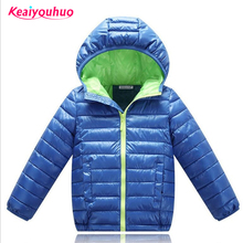 Baby Boys Jacket Coat 2017 Hooded Winter Down Jacket For Girls Jacket Kids Warm Outerwear Coats Children Clothes for age 5-12T