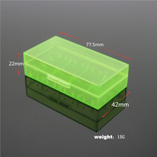 5pcs Plastic Lithium Battery Box Protective Storage Boxes Cases Holder For 18650 18350 CR123A 18500 Battery Free shipping(China)