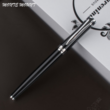1 X Advanced MONTE MOUNT Roller Ball Pen Black Stainless Steel High Quality