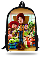 16-inch Mochila School Kids Bag Boys Toys Story Backpack Woody Roundup Printing For Age 7-13 Children School Bags