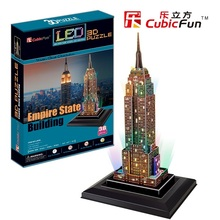 Kingtoy LED 3D Puzzle toy cubic 3 d puzzle-- the  Empire State Building LED edition Child Diy Toy