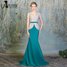 Robe de soiree Hunter Green Champagne Indian Saree Sexy Mermaid Evening Dresses Elegant Long Prom Dress Turkish Women Clothing