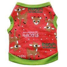 New Qualified Dog Coats Christmas Pet Dog Puppy Clothes Cotton Deer Vest Shirt Clothes  Levert Dropship dig1117