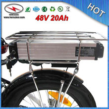 FREE Shipping High Capacity Electric Bike Battery 48V 20Ah Lithium Battery 1000W / Rear Rack Battery with BMS 54.6V 2A Charger