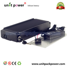 Factory directly selling 48 volt lithium battery rear pack battery pack li-ion 48v 12ah electric bike battery