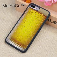MaiYaCa Funny Beer Alcohol Printed Phone Cases For iPhone 8 Plus Luxury Back Cover Skin TPU Protective Shell