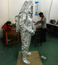 Free shipping fire resistant heat resistant Aluminized Clothing can resistant 1000 degree