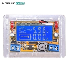 Liquid Crystal Displays DC-DC Step-Down Power Supply Adjustable Push-Button Module with LCD Display 5~23V 3A 50mm x 30mm x 12mm(China)