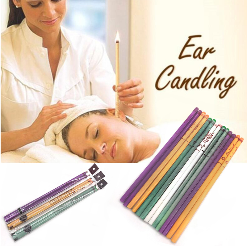 40 Pcs Coning Beewax Natural Ear Candle Ear Candling Therapy Straight Style Ear Care Thermo-Auricular Therapy 11