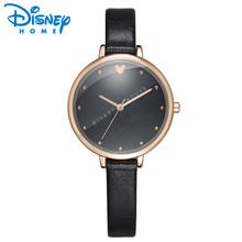 Disney Women Watches Mickey Mouse Fashion Ladies Watch 2017 Leather Bracelet Top Brand Luxury Brand Watch Women horloges saatler(China)