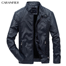 CARANFIER 2017 New Men Leather Jacket Winter Fashion High Quality PU Casual Biker Jacket Male Outerwear & Coats XL 2XL 3XL(China)