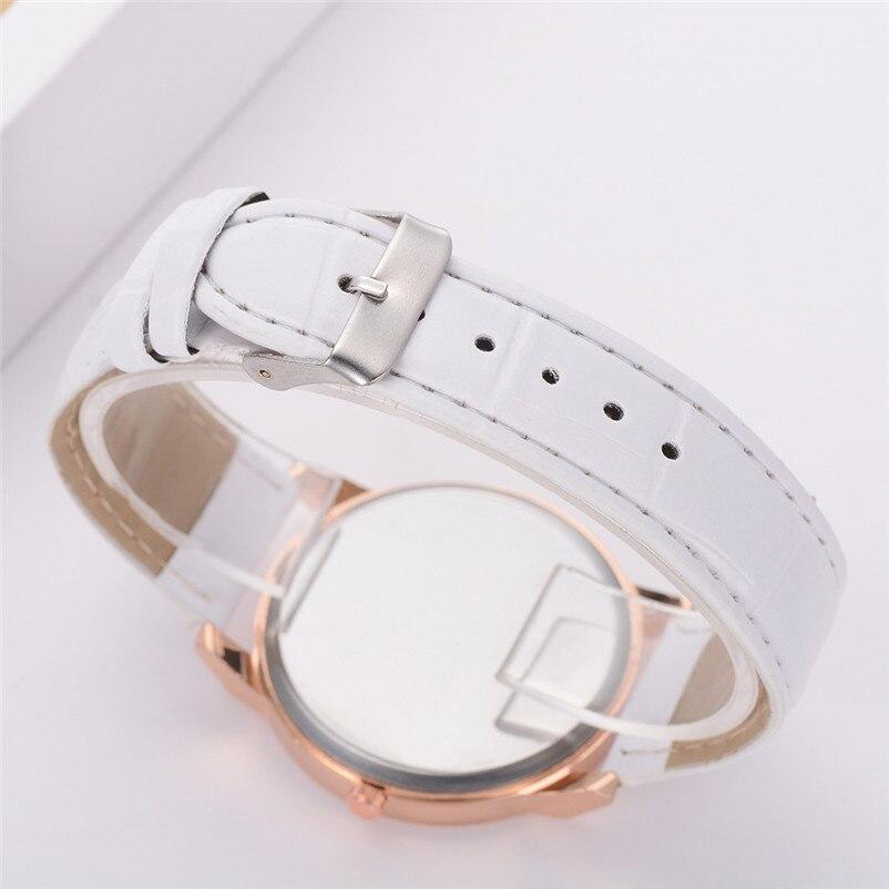 2018 High Quality women fashion casual watch luxury dress ladies  Analog Quartz Leather bands Wrist Watch clock Relogio Y11 (4)