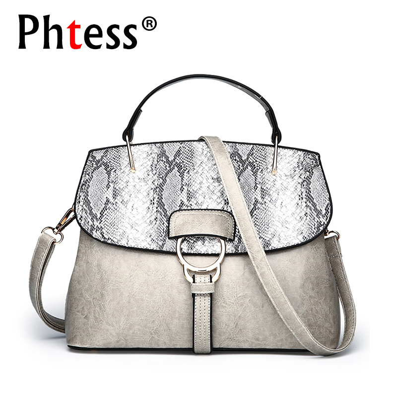 2018 Luxury Serpentine Leather Handbags Women Bags Designer Brand Famous Female Tote Bags Sac a Main Ladeis Hand Bag Crossbody<br>