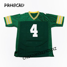 Retro star #4 Brett Favre Embroidered Throwback Football Jersey(China)