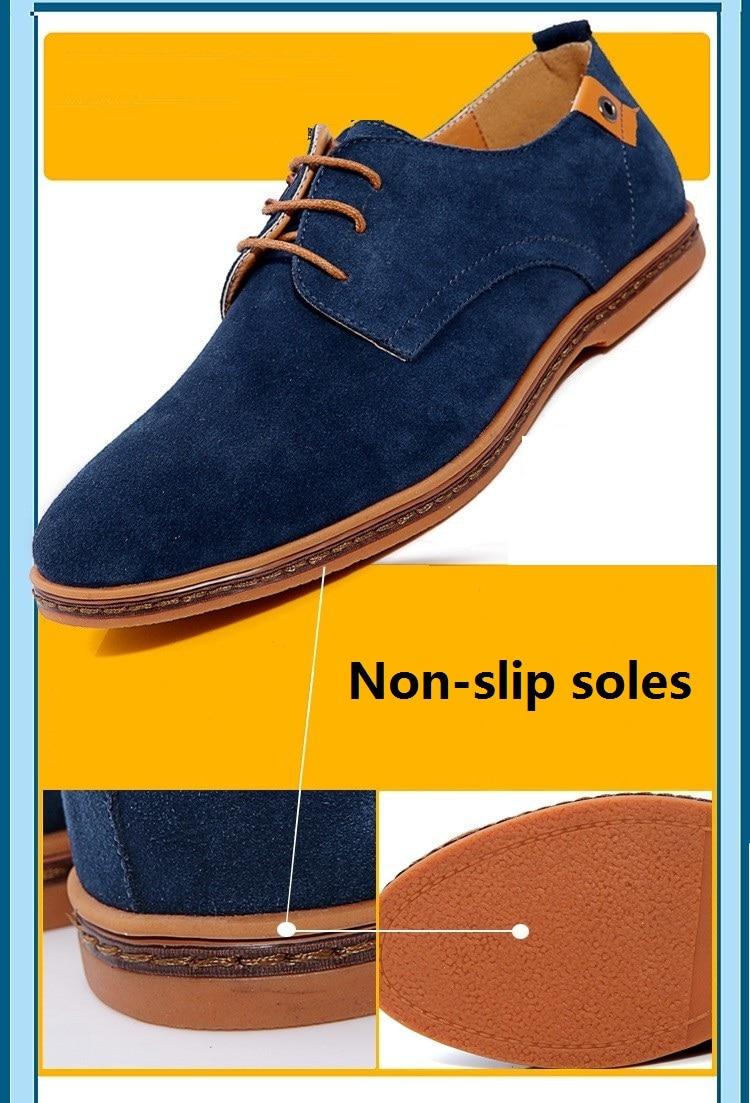Classic Men Flats Gentleman Oxford Genuine Leather Dress Shoes Men Flat Shoes Luxury Casual Shoes Size 39-47 13