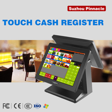 Dual Screen POS Touch System, All In One POS Dual Screen desktop computer POS Restaurant Equipment