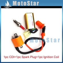 Ignition Coil 6 Pins AC CDI Box D8TC Spark Plug For 150cc 200cc 250cc Engine Parts Chinese Dirt Pit Motor Bike ATV Quad