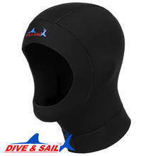 Ultrathin 1mm neoprene scuba dive cap hood equipment Snorkeling hat Underwater deep keeping warm tie the hair heat preservation(China)