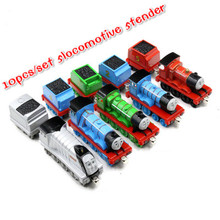 10pcs/lot  5 Locomotive 5 Tender  Diecast Metal Toy Thomas and Friends Train The Tank Engine Trackmaster Toys For Children Gifts