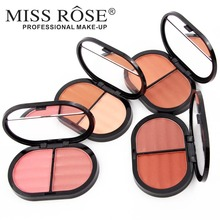 MISS ROSE Baked blusher Soft Smooth Makeup Professional Face Make up Blush Powder 2 Colors to choose(China)