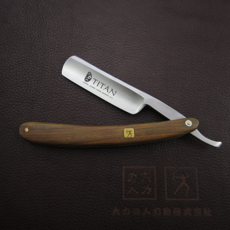 Green sandalwood handle  shipping fee  straight razor<br>
