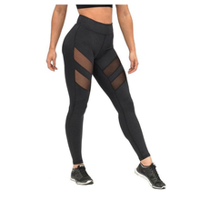 XXL Super Absorbent Wicking Sporting Leggings Women Hollow Net Yarn Splicing Black Leggings Skinny Elastic Fitness Workout Pants(China)
