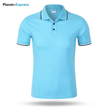 [Can Custom LOGO] Fashion Men breathable Polo Shirt Short Sleeves Slim Fit Solid Color Cotton Camisa Polos Shirt Lapel Tops(China)