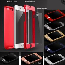 360 Full Body Case for iPhone 5 5s Hybrid Case Free Tempered Glass Acrylic Hard Back Cover For iPhone SE Shockproof Armor Case