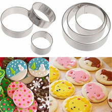 1set/3pcs Reusable Stainless Steel Cookie Cutter DIY Cakes B read Chocolate Sugar Paste Mould Kitchen Cooking Baking Tool