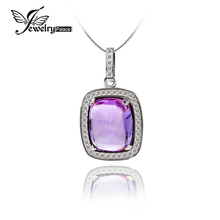 Princess Kate Diana 4.69ct Genuine Amethyst Gemstone Pendant Solid 925 Sterling Silver Fashion Elegant New High Quality(China)