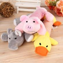 New Home Dog Toys Pet Puppy Chew Squeaker Squeaky Plush Sound Duck Pig & Elephant Toys 3 Designs Worldwide Store