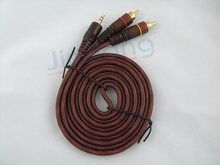 free shipping 3.5 mm to Double lotus Audio line Computer speakers line Speakers sound line Audio signal cable 1.5m-10m