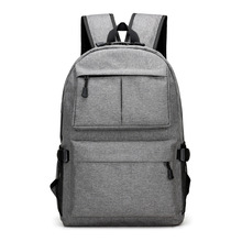 2017 New Men's Backpack For Adolescent Girls Female Travel School Bag Oxford Cloth Luxury Design Charging Port Simple Design(China)