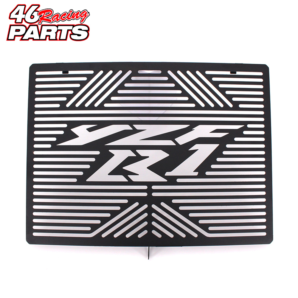 Black Motorcycle Accessories Radiator Guard Protector Grille Grill Cover For YAMAHA YZF-R1 YZF R1 2009-2014<br>