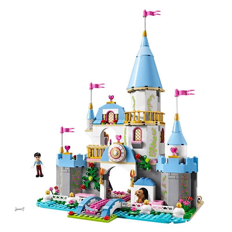 Compatible Legoe Friends 41055 669PCS Cinderellas Romantic Castle Model building blocks toys for children Lepin 25006<br>