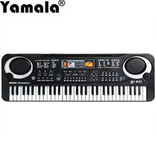 [Yamala] 61 Keys Digital Music Electronic Keyboard Key Board Gift Electric Piano Gift Musical Toys Educational Toys Piano Toys(China)