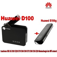 Huawei D100 3g Wireless Router+ USB 3G E169g Modem(China)