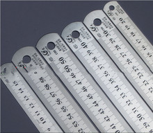 Steel ruler thicker Drafting Supplies hardware tools ruler double faced for office and school kawaii(China)