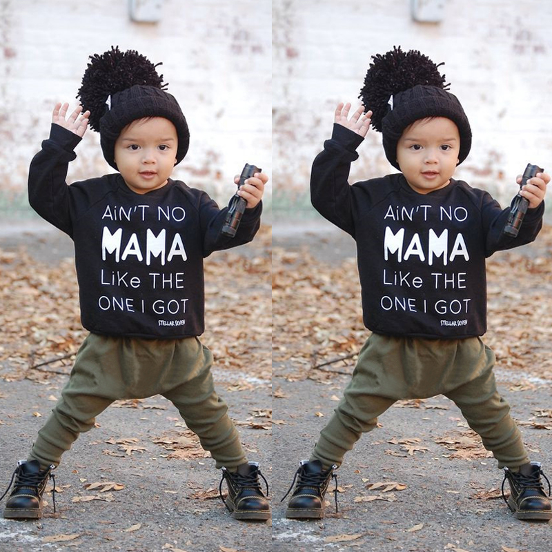 2PCS Kids Baby Toddler Boy Clothes Set T-shirt Tops Pants Leggings Outfits<br><br>Aliexpress