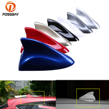 POSSBAY 7 Color Car Shark Fin Antenna Radio Signal Aerial Auto SUV Truck Van Gray/Blue/Gold/Silver/Black/Red/White Car-styling(China)