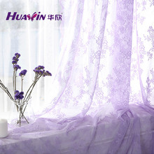 Hot sale Finished window curtains voile tulle sheer curtain modern flower curtains for living room French white lace curtains