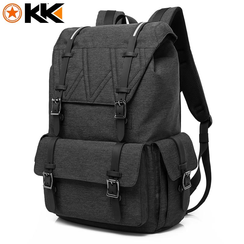KAKA Men Backpack Waterproof Nylon 15.6 Inch Laptop Black Backpack Bag Fashion Women School Bags Backpacks Mochila Masculina<br>