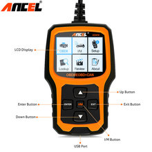 Car Code Reader Ancel AD410 Work for Multi Brand Vehicles OBDII OBD2 Scanner Fault Code Reader in Russian Diagnostic Scan Tool