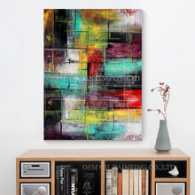 New Design Fashion Colors Abstract Oil Painting for Wall Artwork Artist Hand-painted Canvas Abstract Oil Painting for Decoration