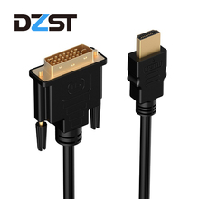 Buy DZLST HDMI Male DVI 24+1 DVI-D Male Adapter Video Cable Gold Plated 1080P HDTV DVD Projector 1m 2m 3m 5m High Speed for $2.37 in AliExpress store