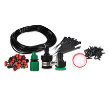 18m Hose 20 Dripper Drip Irrigation System DIY Automatic Watering Kits Micro Drip Garden Watering Systems Adjustable Dripper