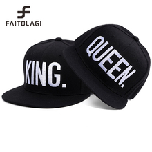 fashion KING QUEEN embroidered letter youth Lover Men women Baseball cap black hip hop cap snapback hats,chapeau bone masculino