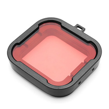 Brand New Polarizer Red Color Underwater Dive Lens Filter For Gopro Hero 3+ Mini Camcorder Accessories(China)