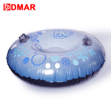 DMAR 84cm 33'' Inflatable Snow Tube With Handle Skiing Board Sled Snow Tire Slippery Grass Sand For Adults Kids Float 2018 NEW(China)